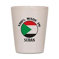 Made In Sudan Shot Glass