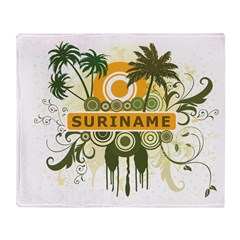Palm Tree Suriname Throw Blanket
