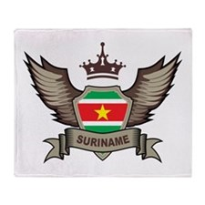 Suriname Emblem Throw Blanket