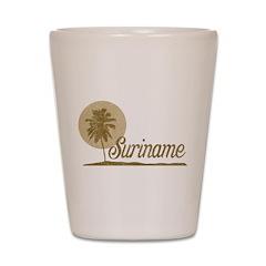 Palm Tree Suriname Shot Glass