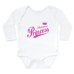 Suriname Princess Long Sleeve Infant Bodysuit