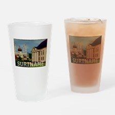 Vintage Suriname Art Pint Glass