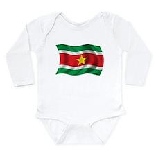 Wavy Suriname Flag Onesie Romper Suit