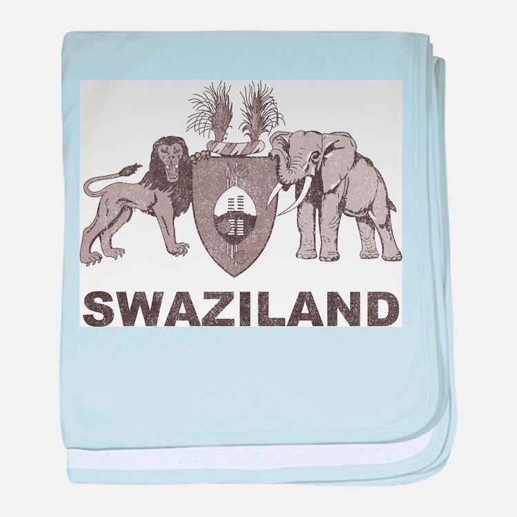 Retro Palm Tree Swaziland baby blanket