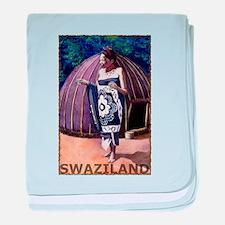 Vintage Swaziland Art baby blanket