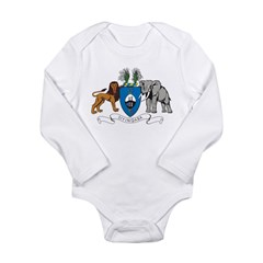 Swaziland Coat Of Arms Long Sleeve Infant Bodysuit