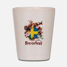 Butterfly Sweden Shot Glass