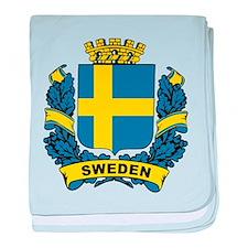 Stylish Sweden Crest baby blanket
