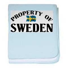 Property Of Sweden baby blanket