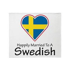 Happily Married Swedish Throw Blanket