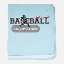 Baseball...just a game? baby blanket