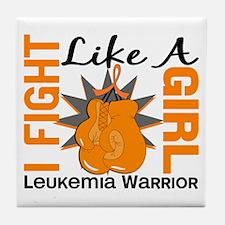 Licensed Fight Like a Girl 8.2 Leukem Tile Coaster