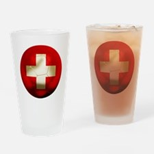 Switzerland Football Pint Glass