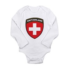 Switzerland Long Sleeve Infant Bodysuit
