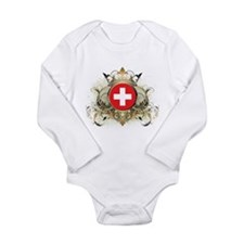 Stylish Switzerland Long Sleeve Infant Bodysuit