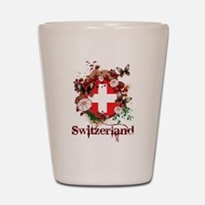 Butterfly Switzerland Shot Glass