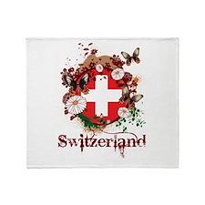 Butterfly Switzerland Throw Blanket
