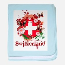 Butterfly Switzerland baby blanket