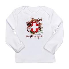 Butterfly Switzerland Long Sleeve Infant T-Shirt