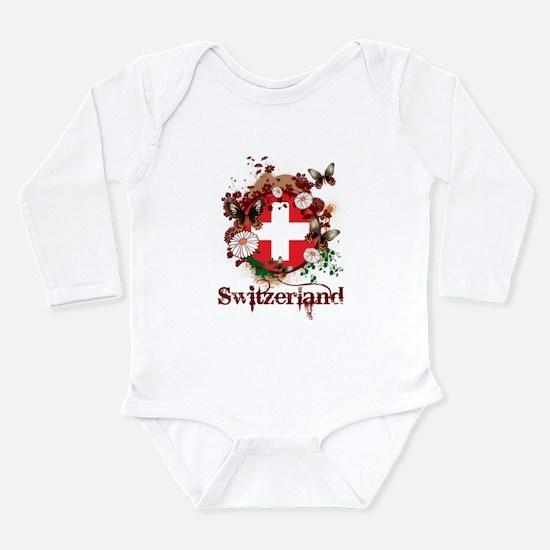 Butterfly Switzerland Long Sleeve Infant Bodysuit