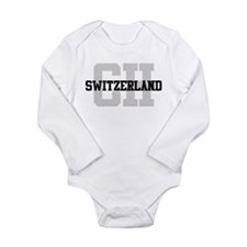 CH Switzerland Long Sleeve Infant Bodysuit