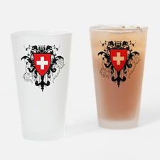 Stylish Switzerland Pint Glass