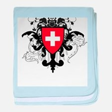 Stylish Switzerland baby blanket