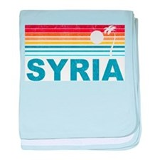 Retro Palm Tree Syria baby blanket