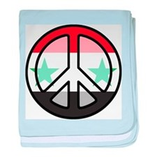 Peace In Syria baby blanket