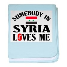 Somebody In Syria baby blanket