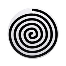 Spiral Petroglyph Icon Ornament (Round)