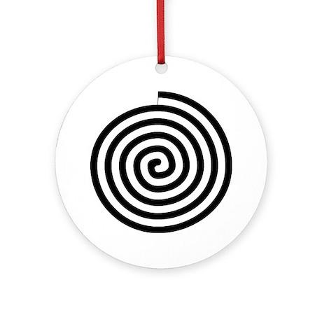 Spiral Petroglyph Icon Ornament (Round)