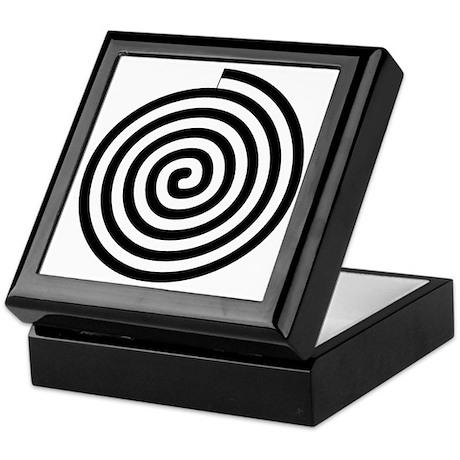 Spiral Petroglyph Icon Keepsake Box