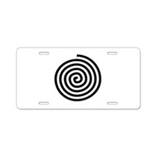 Spiral Petroglyph Icon Aluminum License Plate