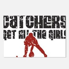 Catchers get all the girls Postcards (Package of 8