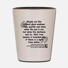 Kübler-Ross Light Quote Shot Glass