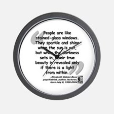 Kübler-Ross Light Quote Wall Clock