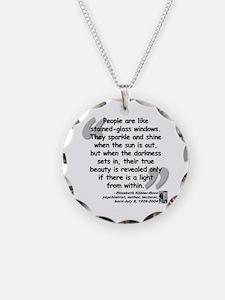 Kübler-Ross Light Quote Necklace
