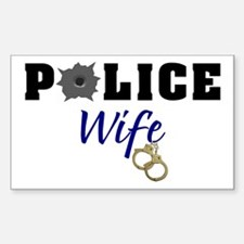 Police Wife Rectangle Decal