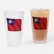 Wavy Taiwan Flag Pint Glass