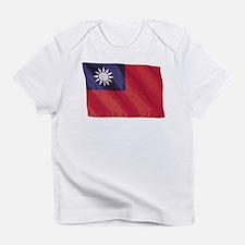 Wavy Taiwan Flag Infant T-Shirt