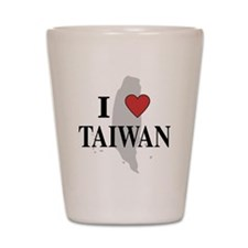 I Love Taiwan Shot Glass