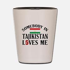 Somebody In Tajikistan Shot Glass