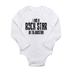 Rock Star In Tajikistan Long Sleeve Infant Bodysui