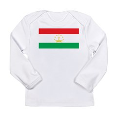 Tajikistan Flag Long Sleeve Infant T-Shirt