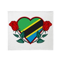 Heart Tanzania Throw Blanket