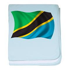 Wavy Tanzania Flag baby blanket