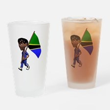 Cute 3D Tanzania Pint Glass