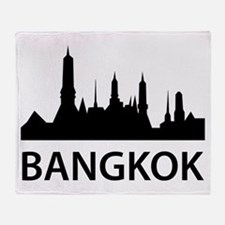 Bangkok Skyline Throw Blanket
