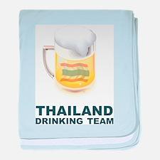 Thailand Drinking Team baby blanket